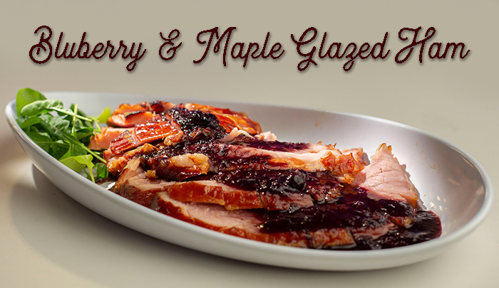 Blueberry and Maple Glazed Ham