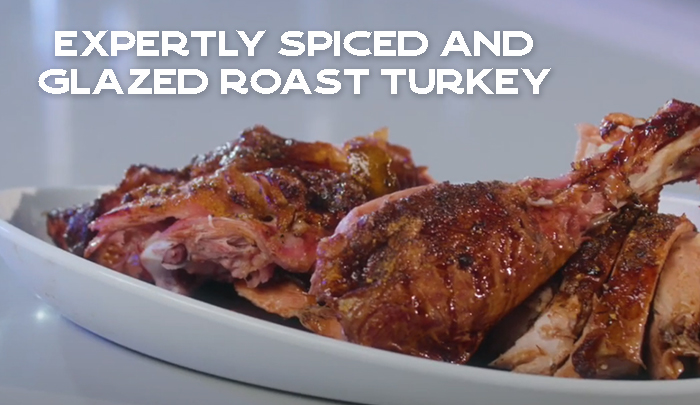 Expertly Spiced and Glazed Roast Turkey